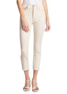 Re/Done High-Rise Ankle Skinny Stretch Corduroy