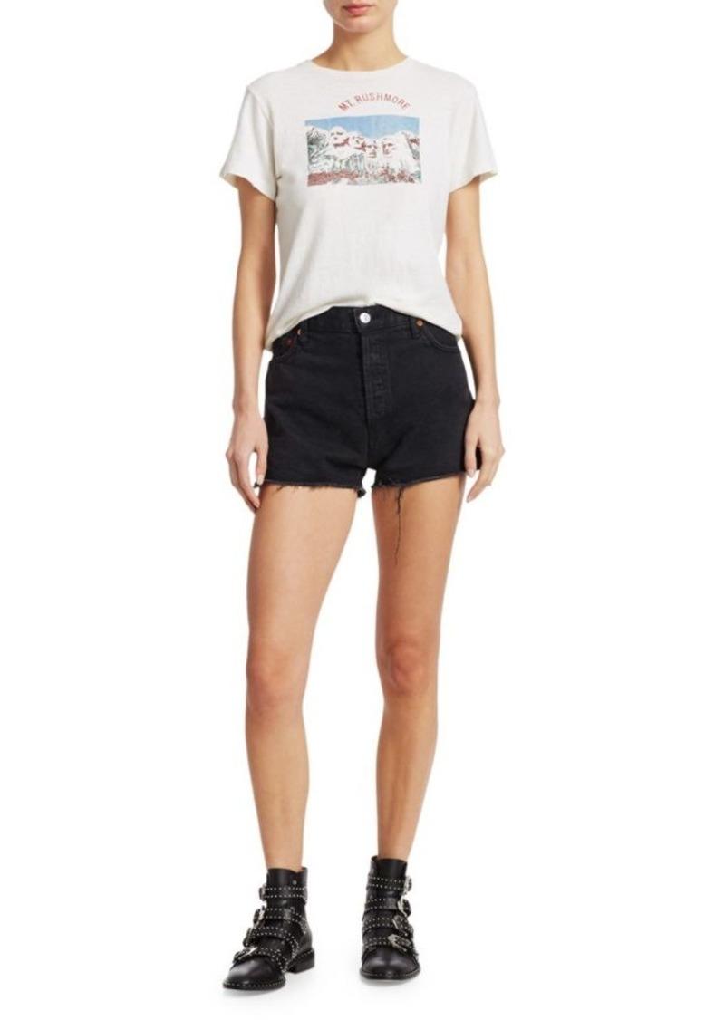 Re/Done High-Rise Denim Shorts