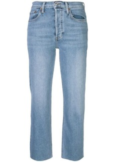 Re/Done high rise pipe jeans