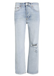 Re/Done Stove Pipe Stretch Jeans