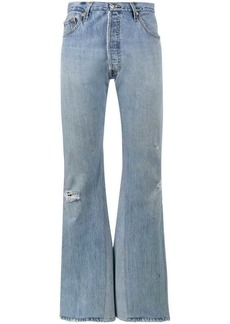 Re/Done high rise wide-leg jeans