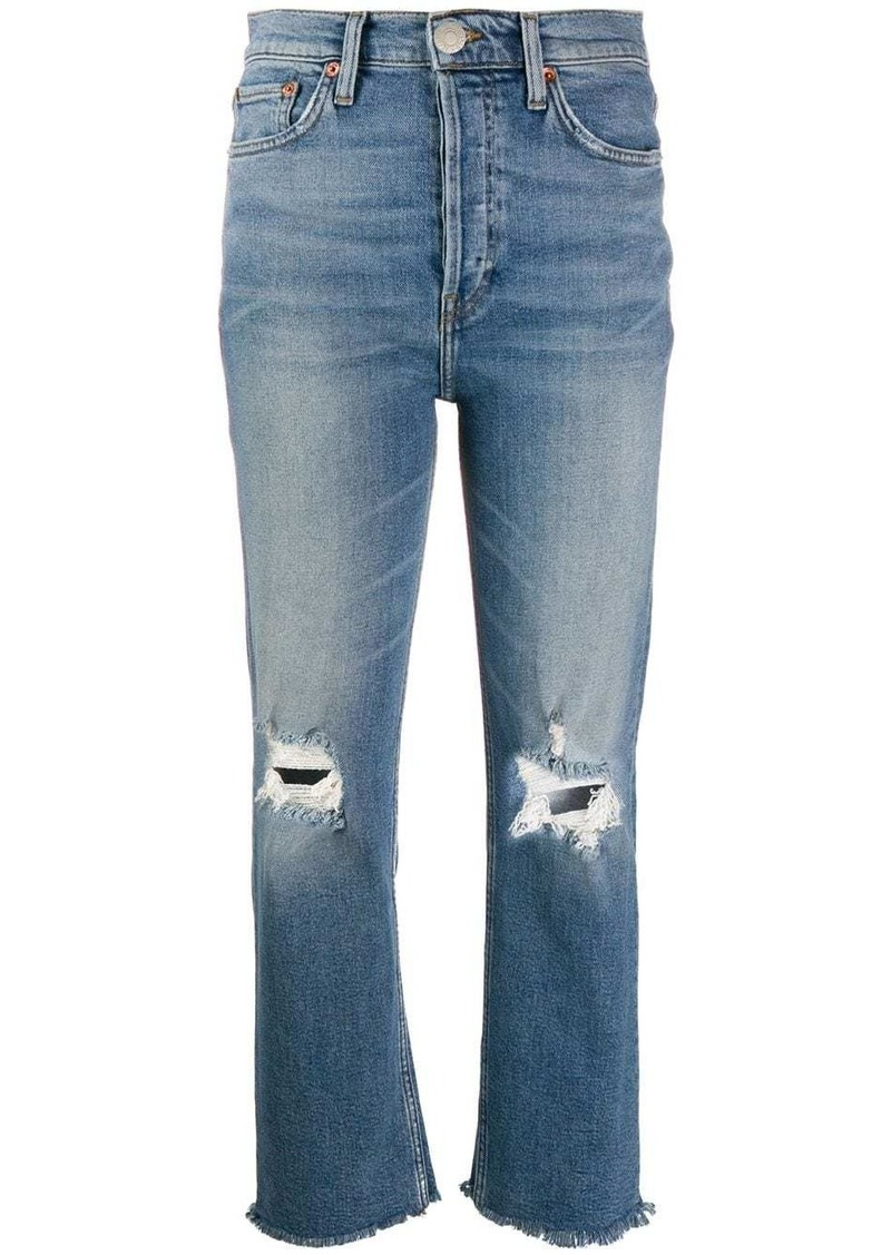 Re/Done high waisted distressed jeans