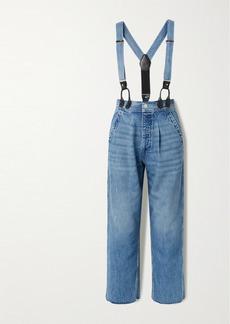 Re/Done Hikari Mori High-rise Wide-leg Jeans With Braces