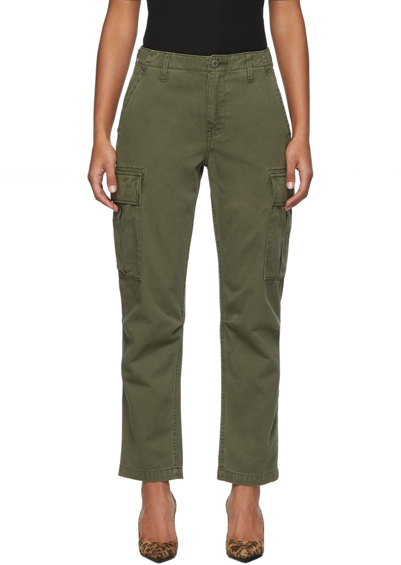 Re/Done Khaki Twill Cargo Pants