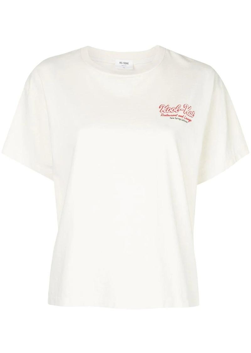 Re/Done Kool Kat print boxy T-shirt