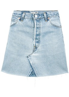 Re/Done Levi's high waisted denim mini skirt