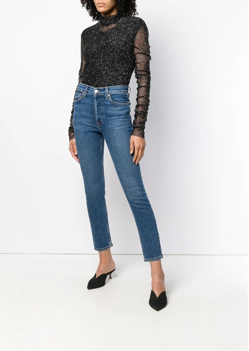 Re/Done low-rise skinny jeans