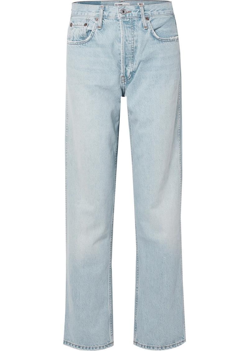 Re/Done Low Slung Mid-rise Boyfriend Jeans