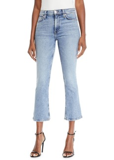 Re/Done Mid-Rise Cropped Kick Flare Stretch Jeans