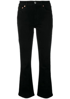 Re/Done mid rise kick flare jeans
