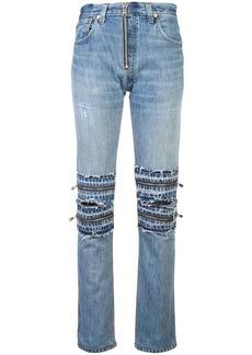 Re/Done multi zip details jeans