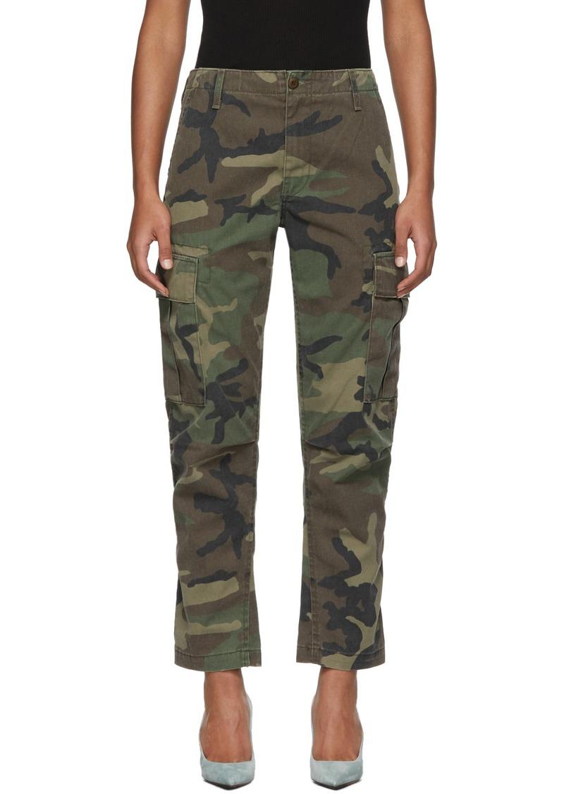 Re/Done Multicolor Camo Cargo Pants