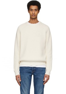 Re/Done Off-White Fisherman Sweater