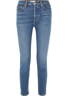 Re/Done Originals High-rise Ankle Crop Stretch Skinny Jeans