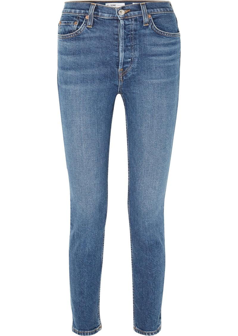 Re/Done Originals High-rise Ankle Crop Stretch Skinny Jeans