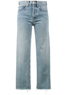 Re/Done Originals Stove Pipe 27 cropped high waist jeans