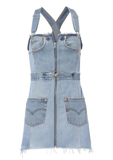 Re/Done Overall Denim Dress