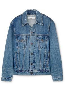 Re/Done Oversized Distressed Denim Jacket