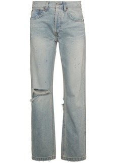 Re/Done oversized distressed straight cut jeans