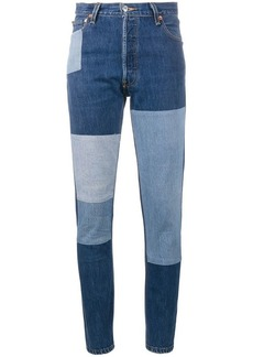 Re/Done patchwork slim-fit jeans