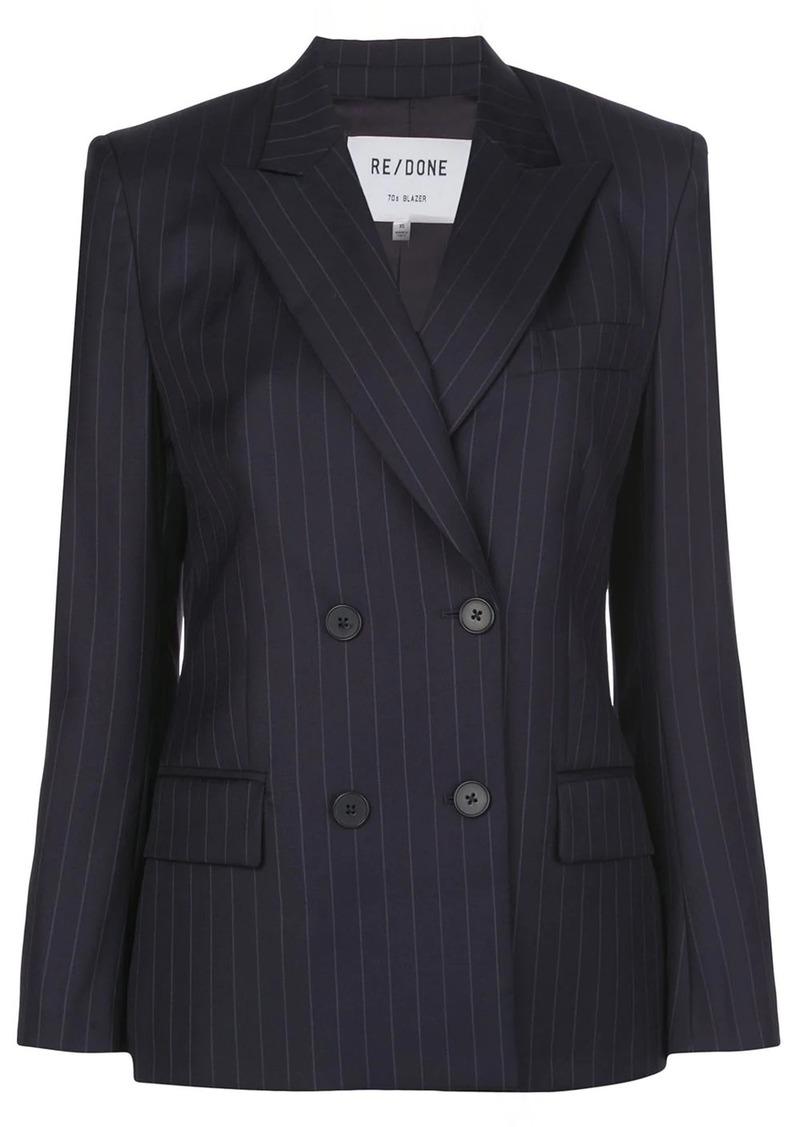 Re/Done pinstriped blazer