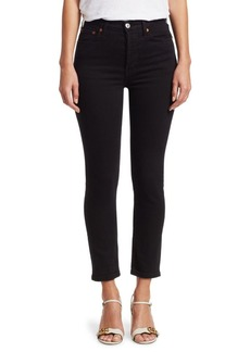 Re/Done Power Stretch Ankle-Crop Skinny Jeans