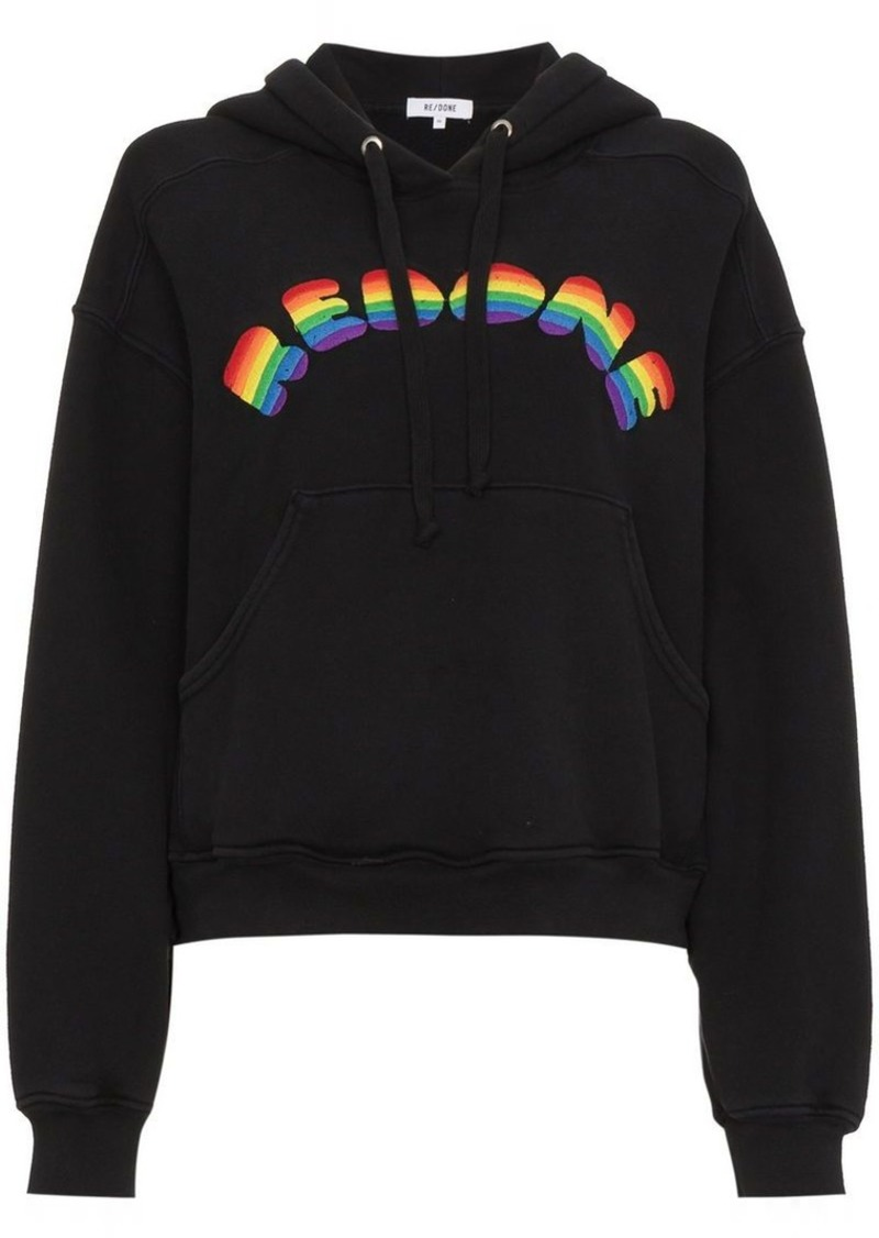 Re/Done Rainbow Hooded Sweatshirt