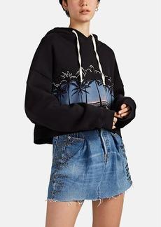 RE/DONE + THE ATTICO Women's Graphic Cotton Crop Hoodie