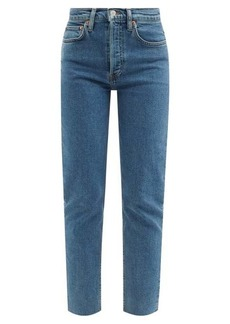 Re/Done 90s high-rise slim-leg cropped jeans
