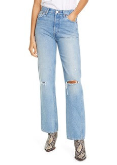 Re/Done '90s Ripped High Waist Loose Straight Leg Jeans (Light Destroyed 5)
