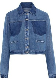 Re/done By Levi's Woman Cropped Denim Jacket Mid Denim