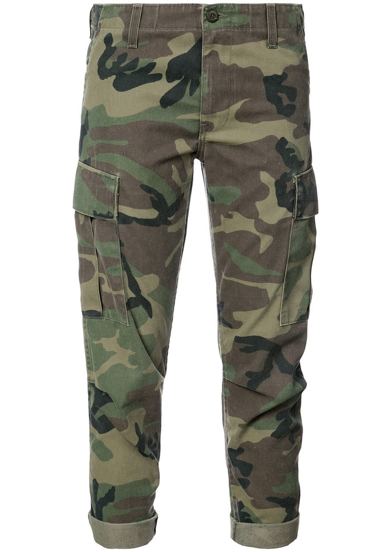 Re/Done camouflage print cropped trousers