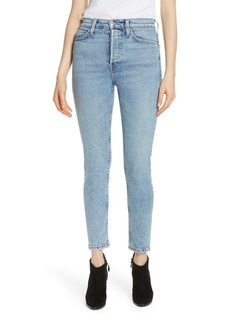 Re/Done Comfort Stretch High Waist Ankle Crop Jeans (Mid '90s)
