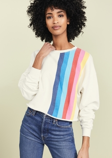 RE/DONE Crew Neck Sweatshirt with Stripes