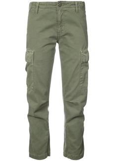 Re/Done cropped cargo trousers - Green