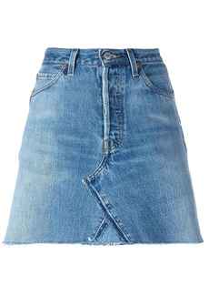 Re/Done mini denim skirt