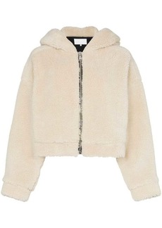 Re/Done faux fur hooded jacket with ears
