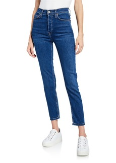 RE/DONE High-Rise Ankle Crop Skinny Jeans