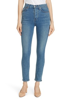 Re/Done High Waist Ankle Skinny Jeans (Light 27)