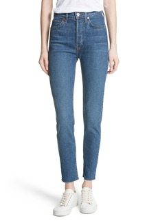 Re/Done High Waist Stretch Crop Jeans (Forever Rinse)