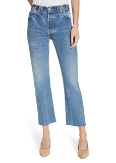 Re/Done High Waist Stovepipe Jeans