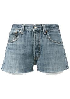 Re/Done Levi's denim short shorts - Blue