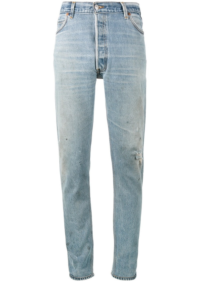 Re/Done Levi's Distressed High Waisted Slim Fit Jeans