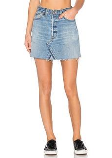 RE/DONE Levis High Waist Mini Skirt