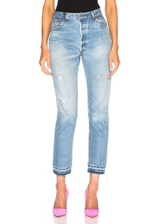 RE/DONE LEVI'S Released Hem High Rise Ankle