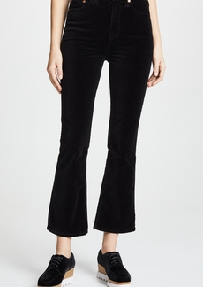 RE/DONE Mid Rise Crop Kick Flare Jeans
