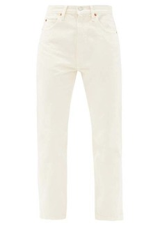 Re/Done Originals 70s cropped straight-leg jeans