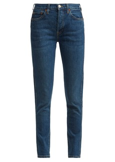 Re/Done Originals Double Needle cropped straight-leg jeans