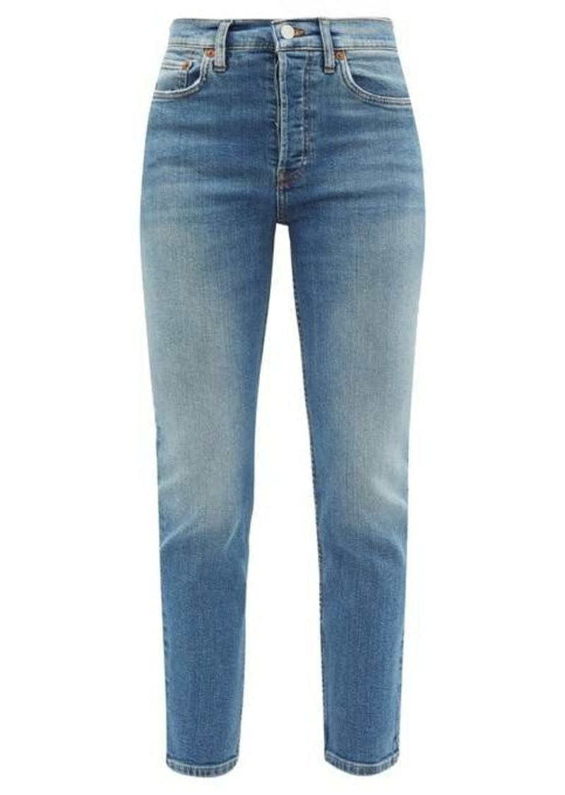 Re/Done Originals High-rise cropped slim-leg jeans