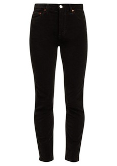 Re/Done Originals High-rise cropped velvet jeans